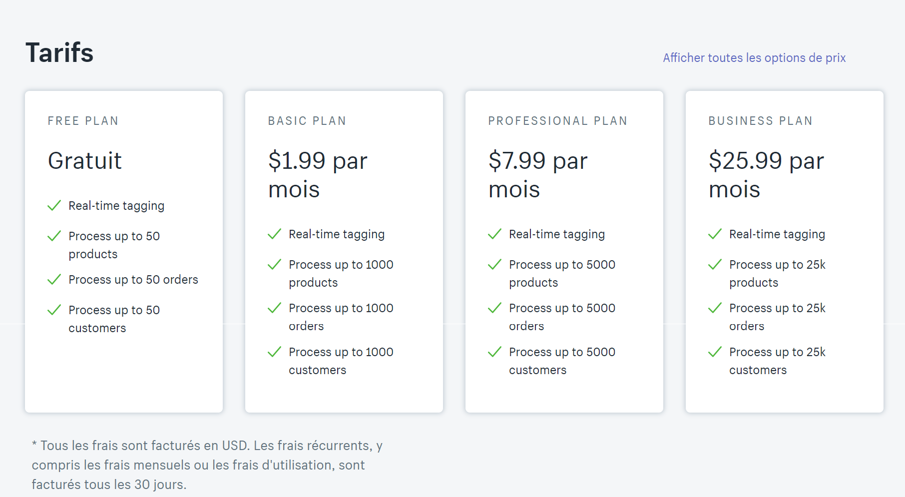 pricing saas exemple smart tags