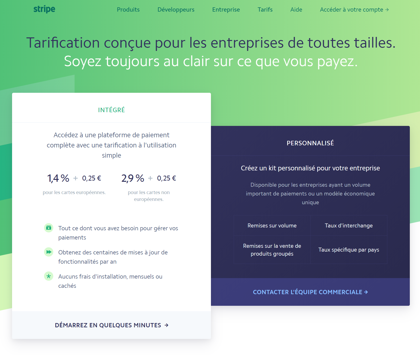 pricing saas exemple stripe